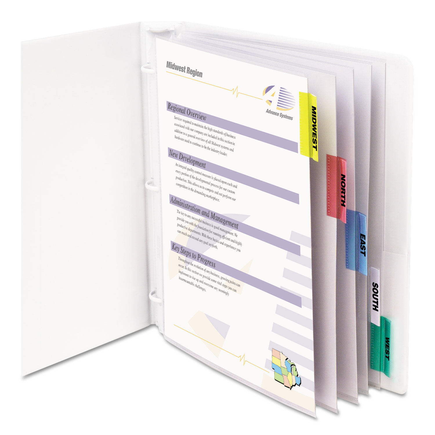 Sheet Protectors with Index Tabs, Assorted Color Tabs, 2