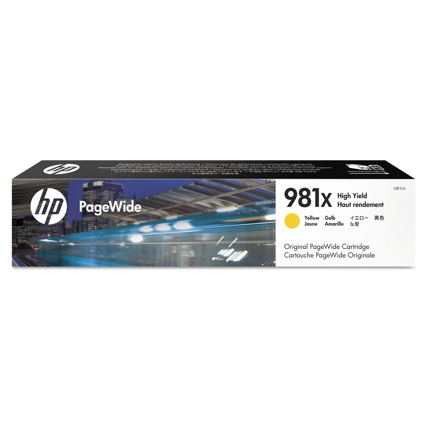 HP 981X L0R11A Yellow High-Yield Original Ink Cartridge