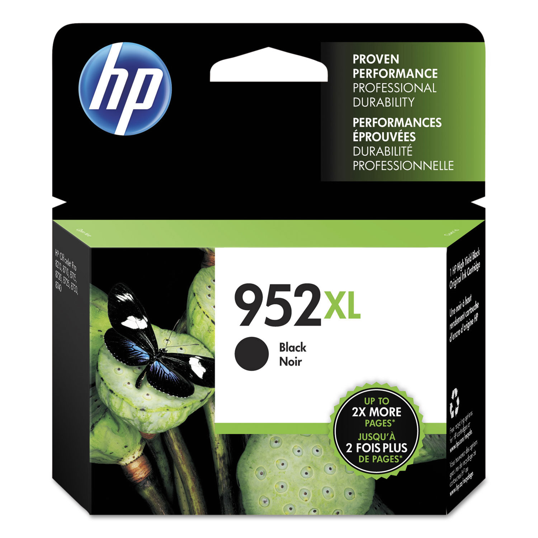 HP 952XL, (F6U19AN) High Yield Black Original Ink Cartridge