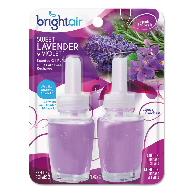 Electric Scented Oil Air Freshener Refill, Sweet Lavender/Violet, 0.67 oz Jar, 2/Pack