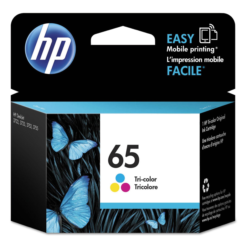 HP 65, (N9K01AN) Tri-Color Original Ink Cartridge