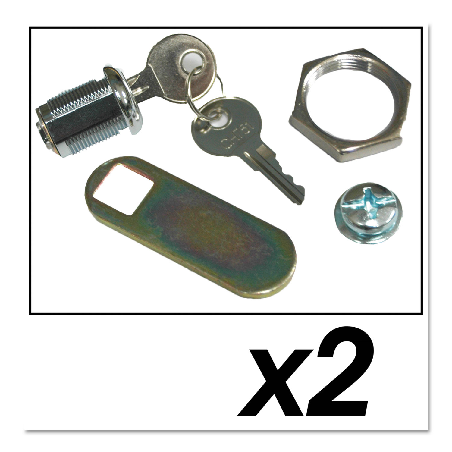 Replacement Lock and Keys for Cleaning Carts, Silver SGSFG9T73M20000