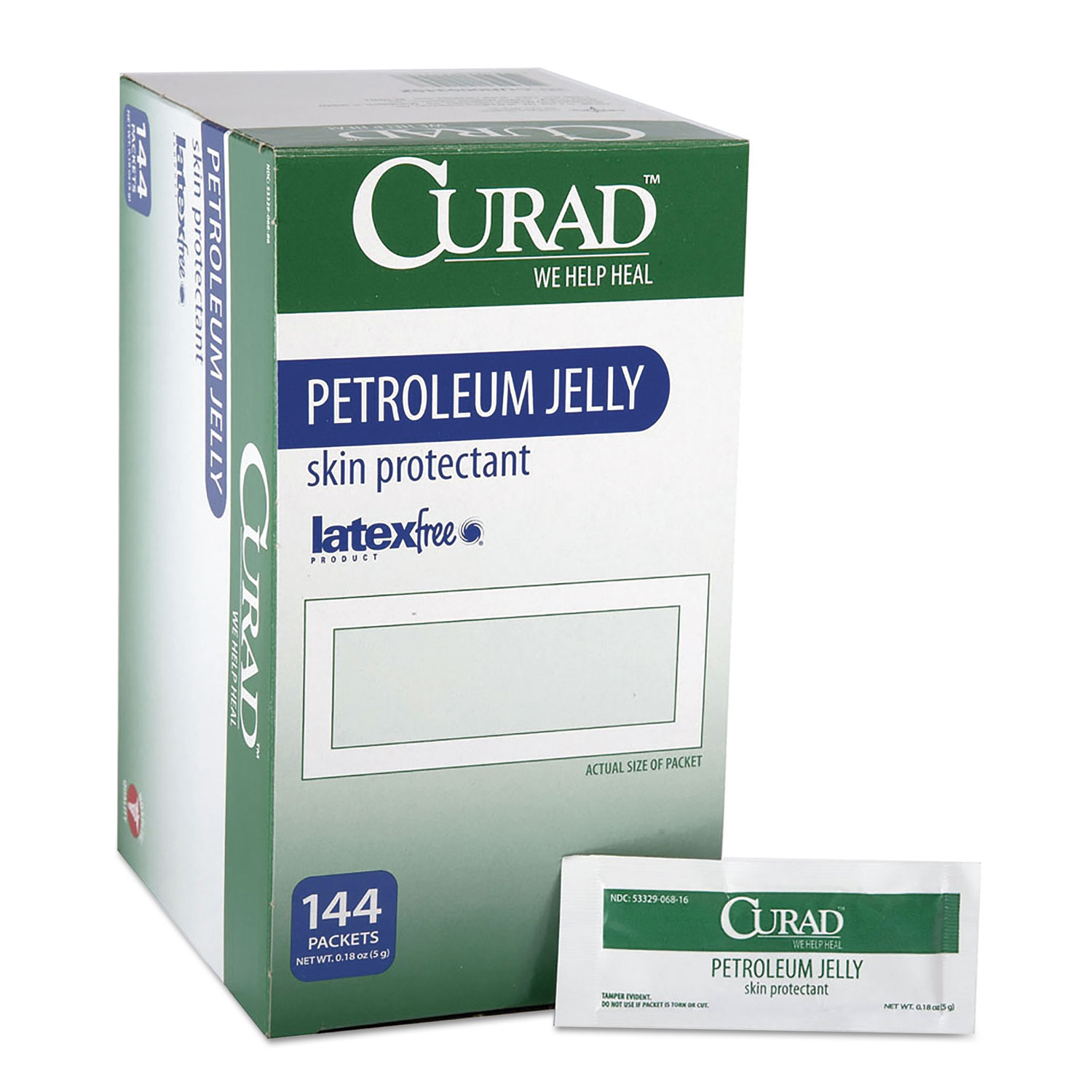 Petroleum Jelly, 0.18 oz Foil Packet, 144/Box
