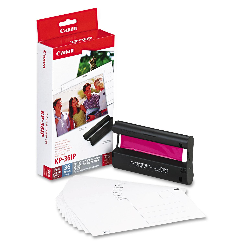 7737A001 (KP-36IP) Ink/Paper Combo, Tri-Color