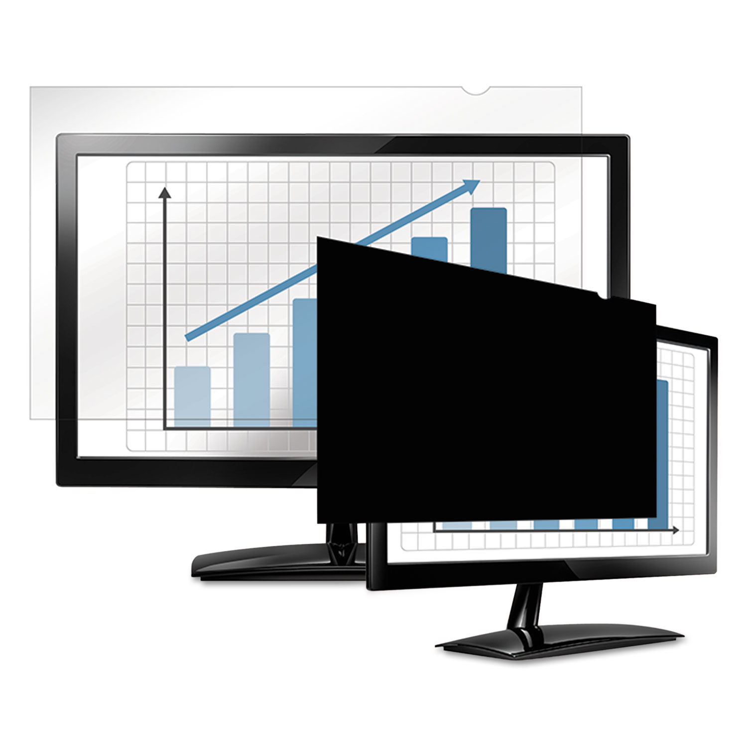 """PrivaScreen Blackout Privacy Filter for 24"""" Widescreen LCD, 16:9 Aspect Ratio"""