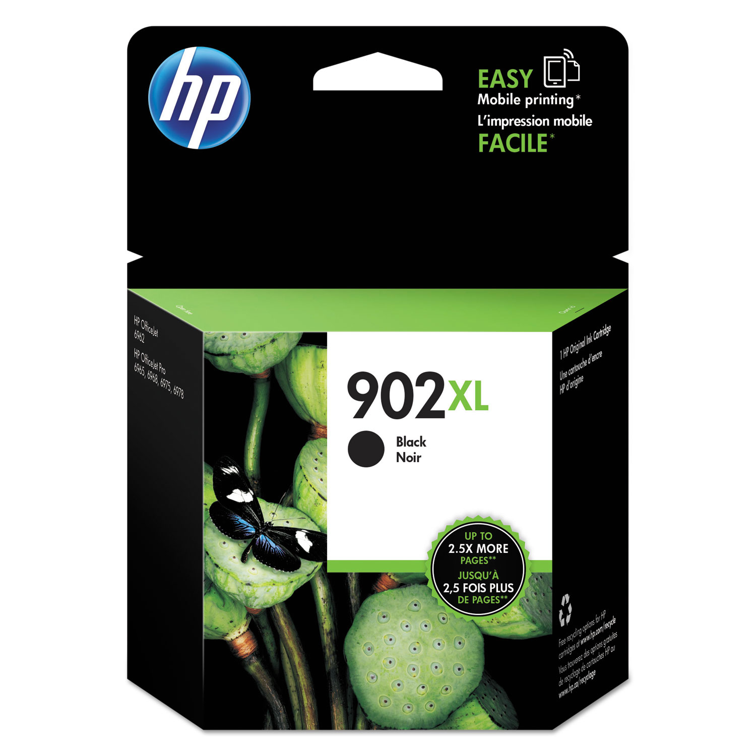 HP 902XL T6M14AN High-Yield Black Original Ink Cartridge