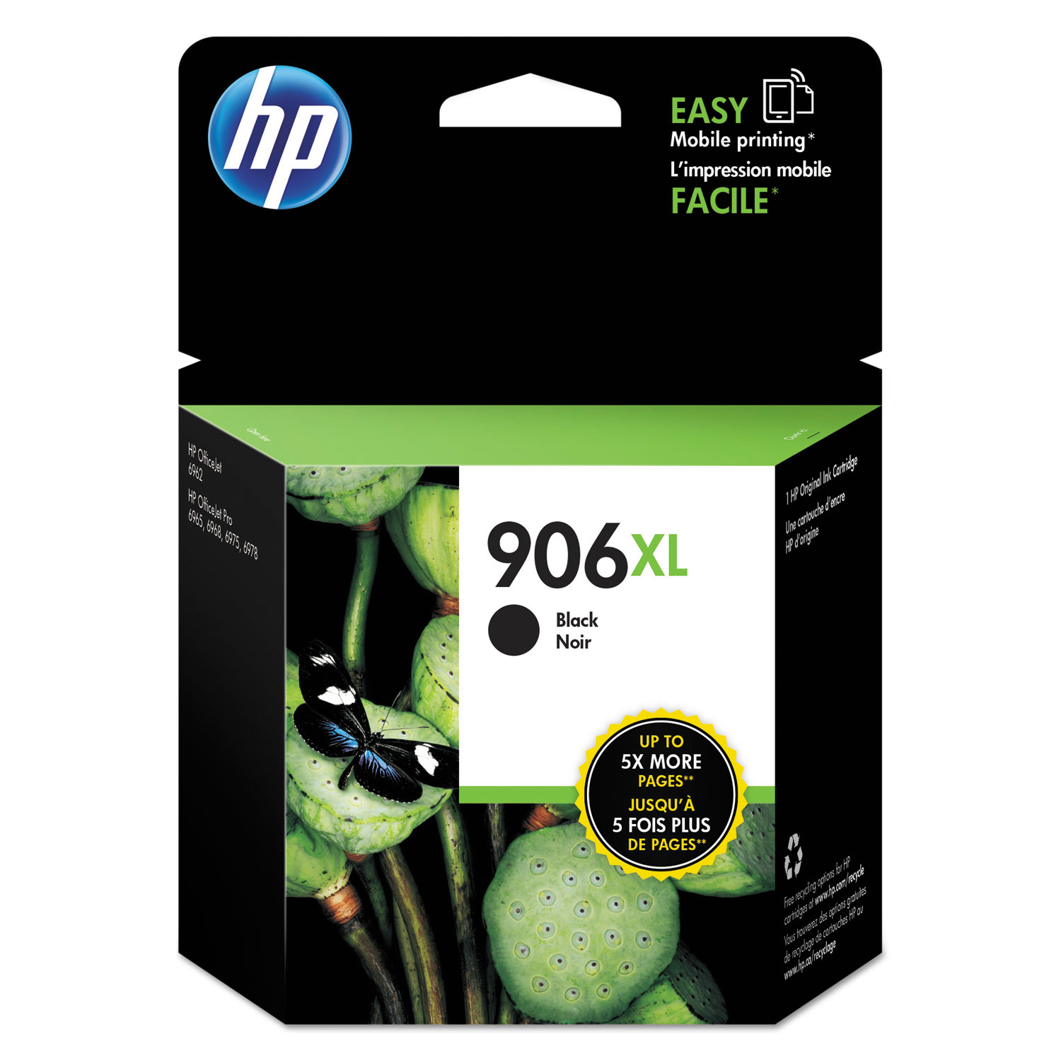 HP 906XL T6M18AN High-Yield Black Original Ink Cartridge