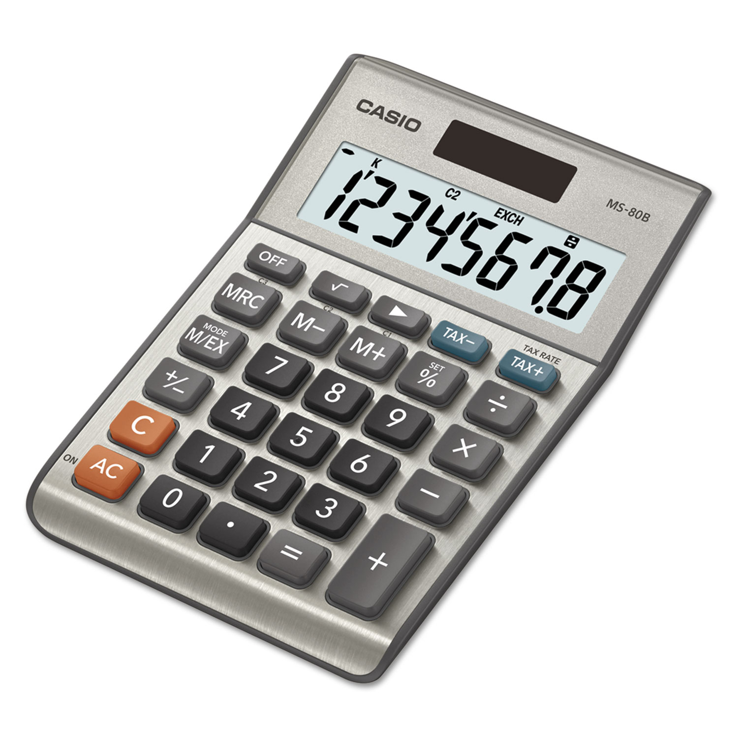 MS-80B Tax and Currency Calculator, 8-Digit LCD