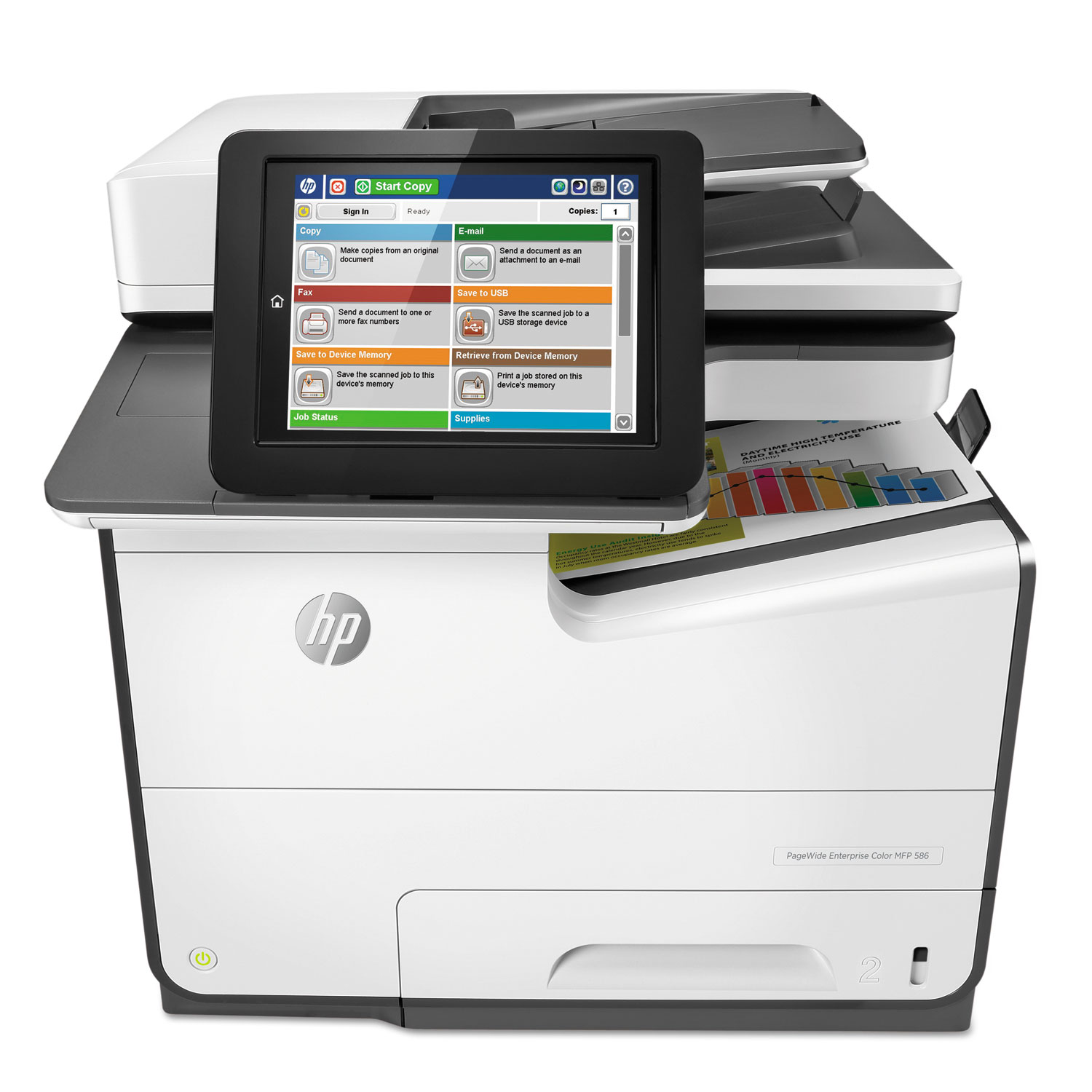 PageWide Enterprise Color MFP 586f, Copy/Fax/Print/Scan