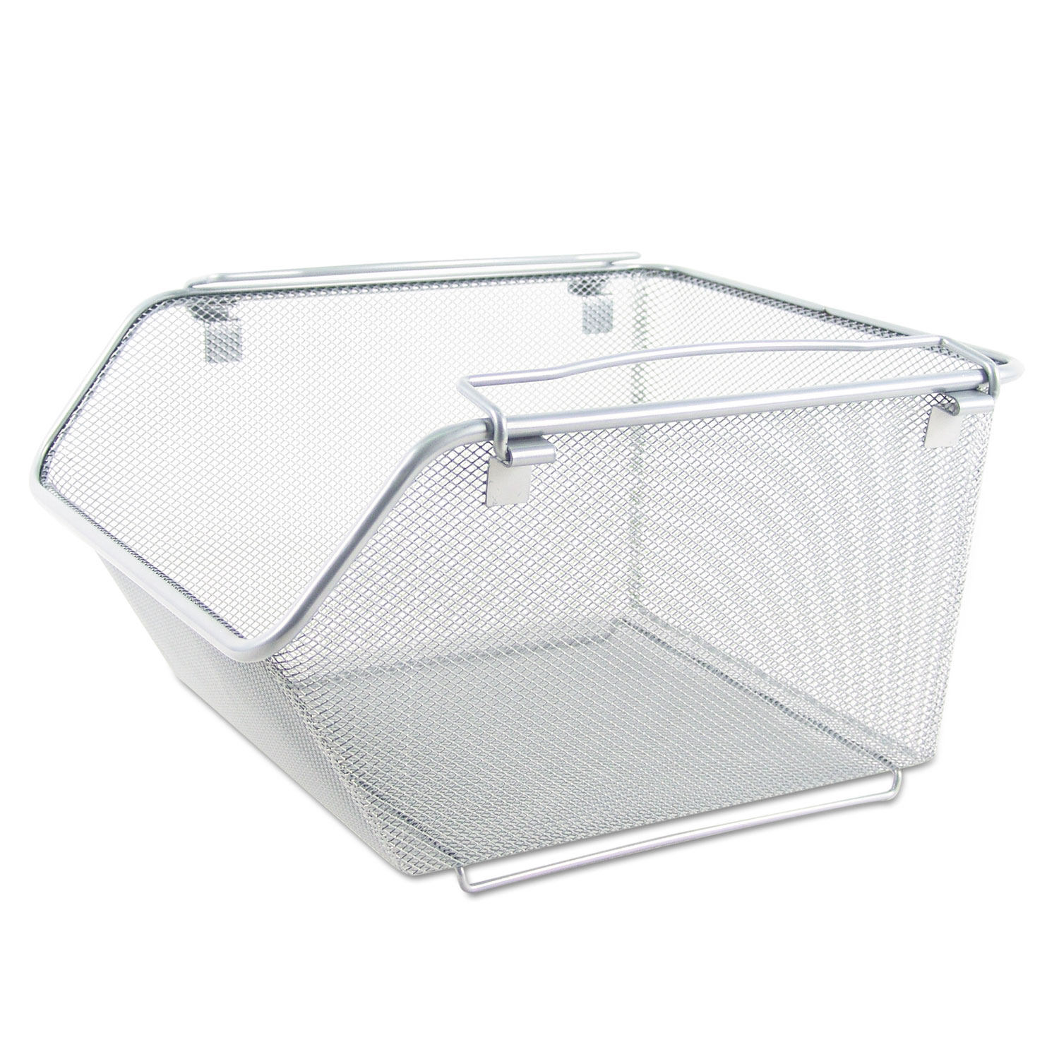 Wire Mesh Stacking Shelving Bins by Alera® ALESW258SV ...