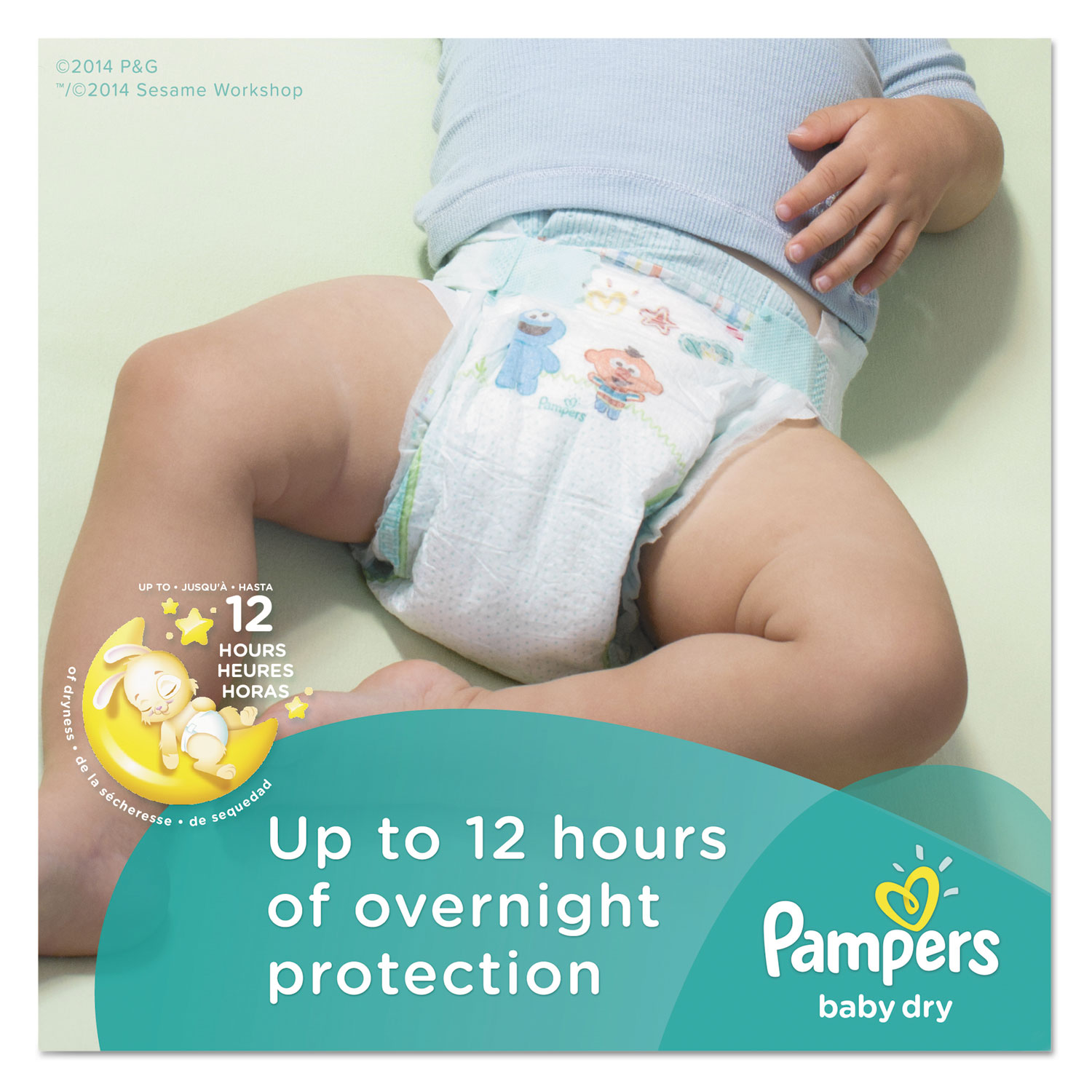 Baby Dry Diapers, Size 3: 16 to 28 lbs, 160/Carton
