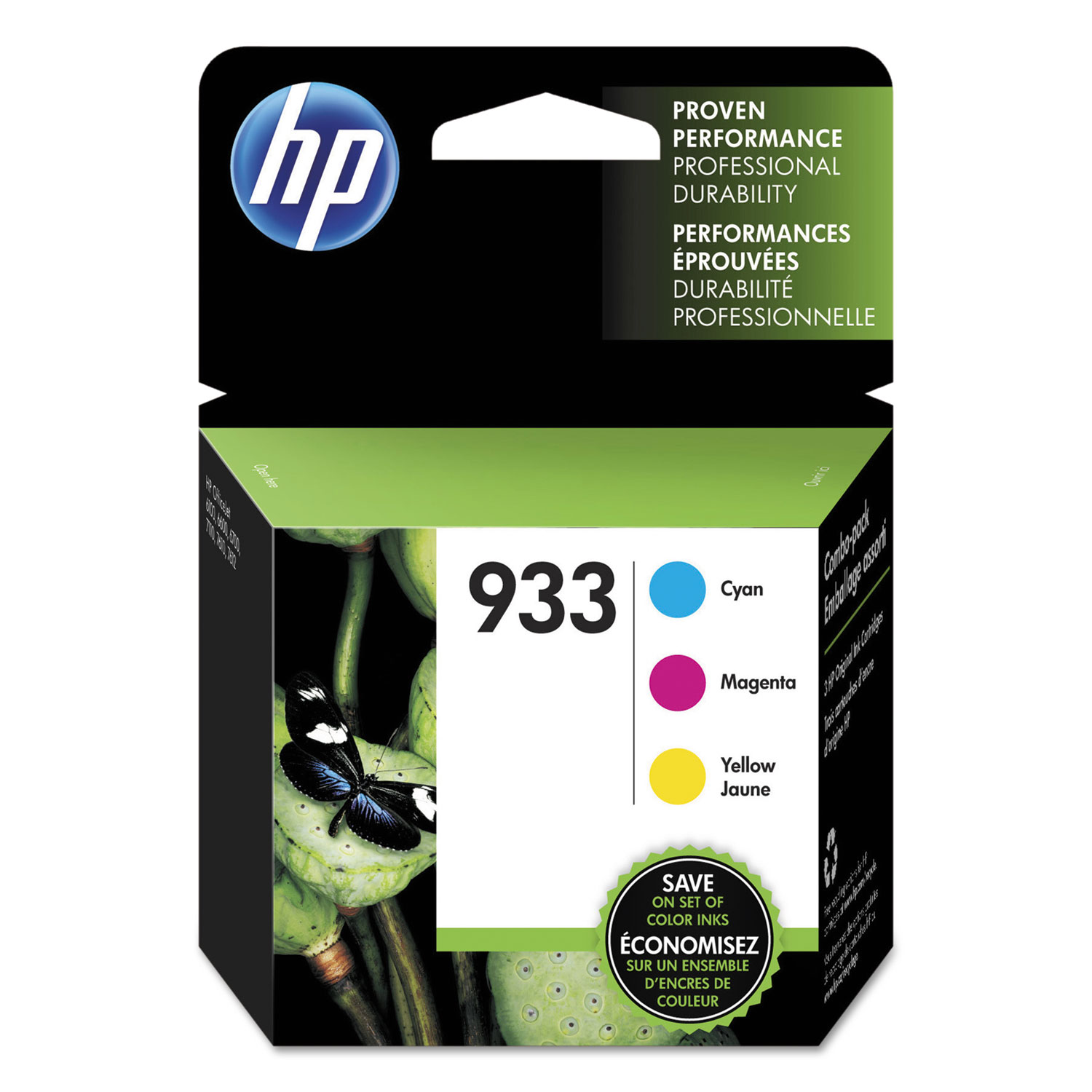 HP 933 N9H56FN Cyan, Magenta, Yellow Original Ink Cartridge