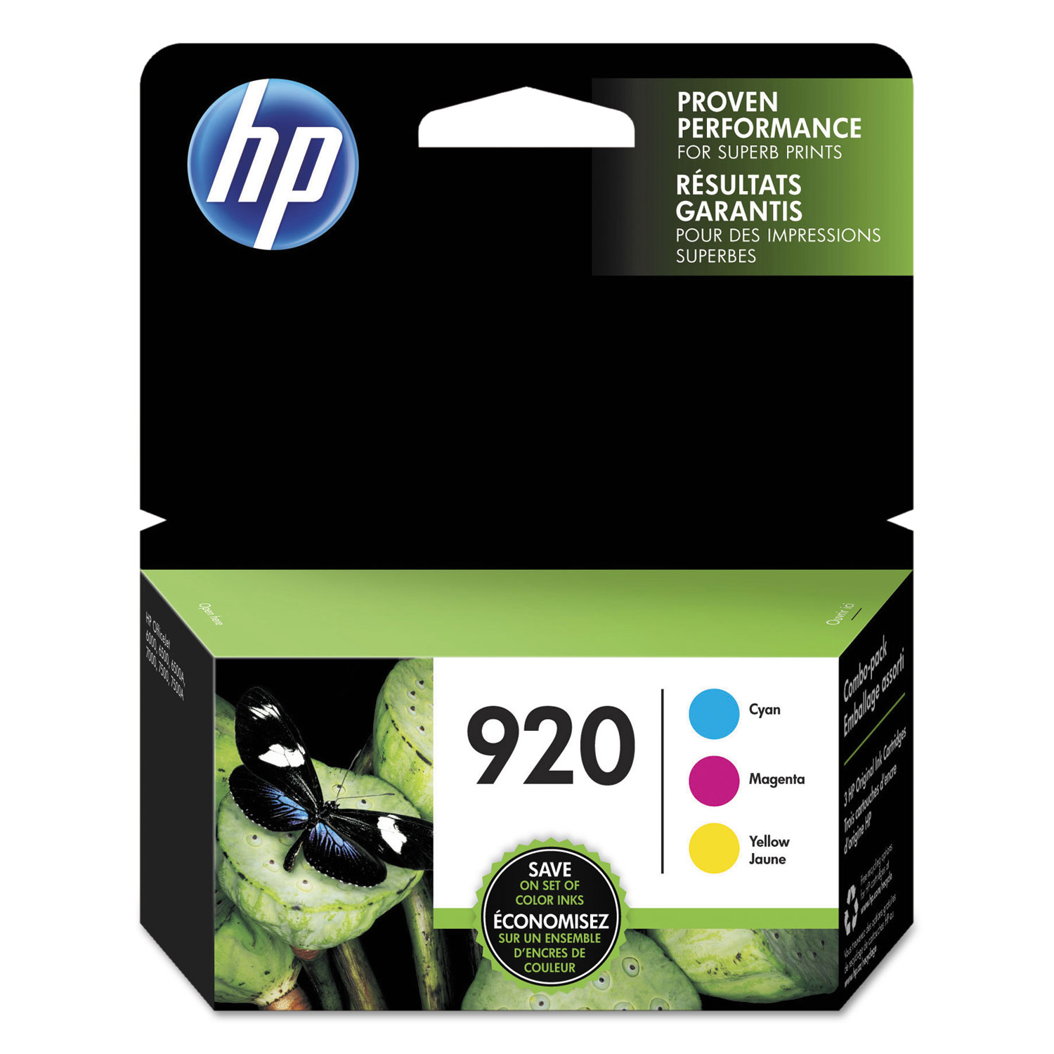HP 920 N9H55FN Cyan, Magenta, Yellow Original Ink Cartridge