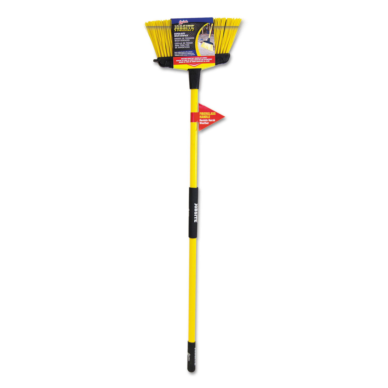 Super-Duty Upright Broom, 5 1/2 Bristles, 54 Handle, Fiberglass, Yellow/Black
