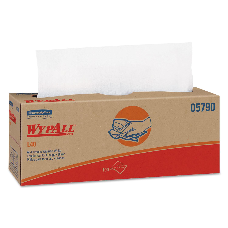 L40 Towels, POP-UP Box, White, 16 2/5 x 9 4/5, 100/Box, 9 Boxes/Carton