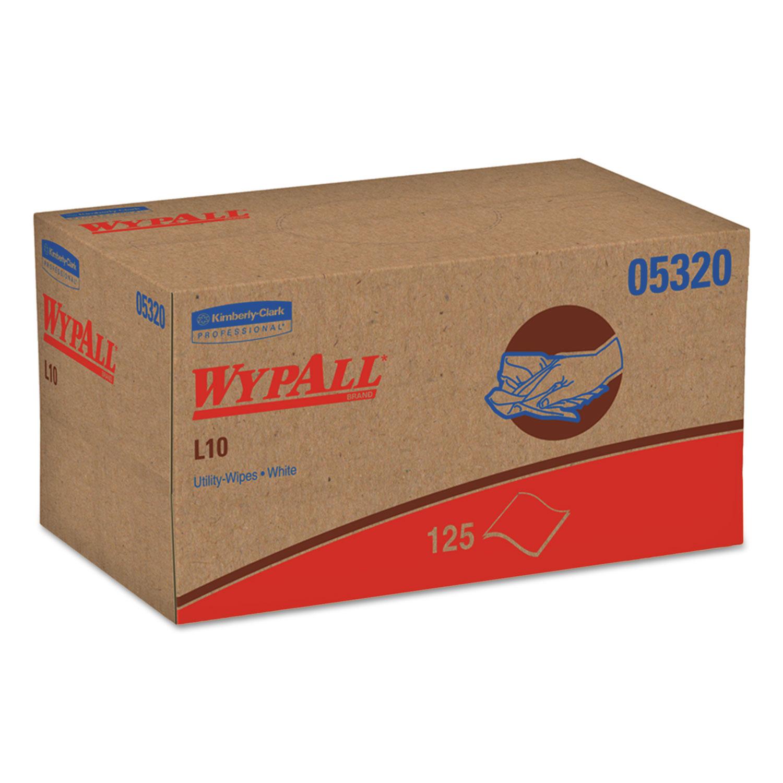 L10 Towels, POP-UP Box, 1Ply, 9 x 10 1/2, White, 125/Box, 18 Boxes/Carton