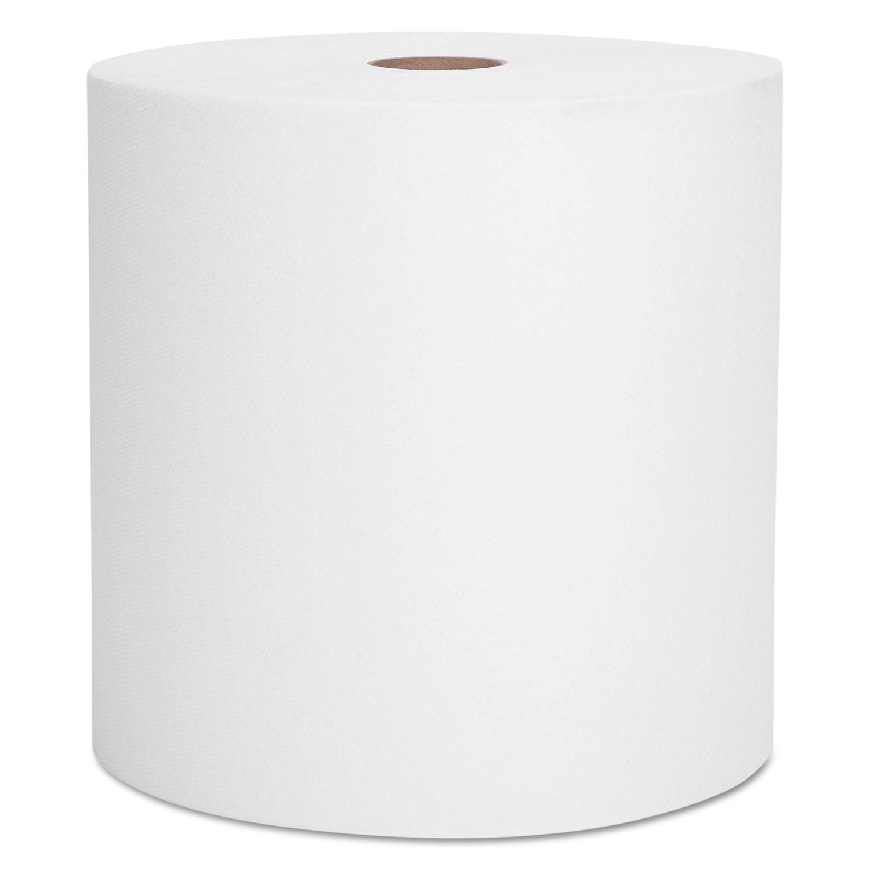 "Essential Hard Roll Towel, 1.5"" Core, 8 x 800ft, White, 12 Rolls/Carton"
