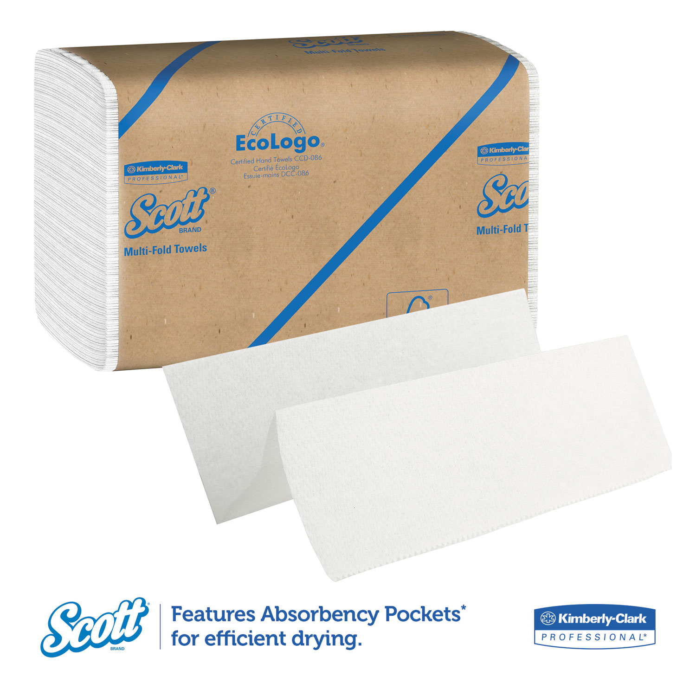 9 1//5 x 9 2//5 250//Pack 16 Pk//CT Scott KCC01801 Multi-Fold Towels Natural