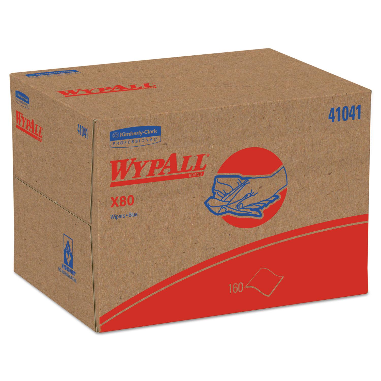X80 Cloths, BRAG Box, HYDROKNIT, Blue, 12 1/2 x 16 4/5, 160 Wipers/Carton
