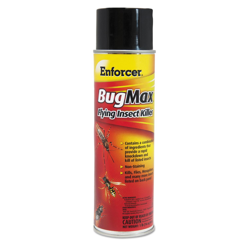 BugMax Flying Insect Killer, 16 oz Aerosol Can, 12/Carton