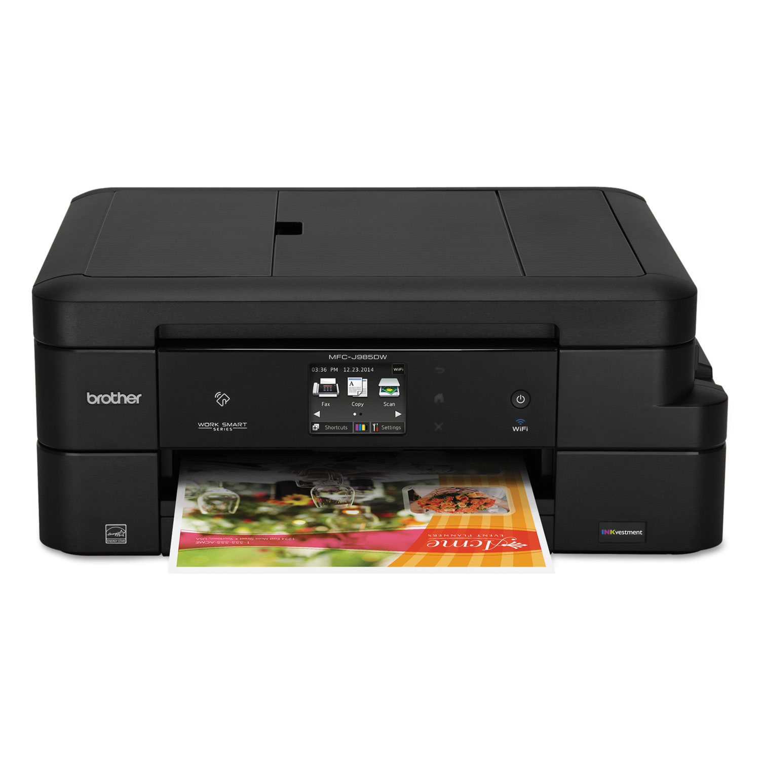 Work Smart MFC-J985DW All-in-One Copy/Fax/Print/Scan With INKvestment Cartridges