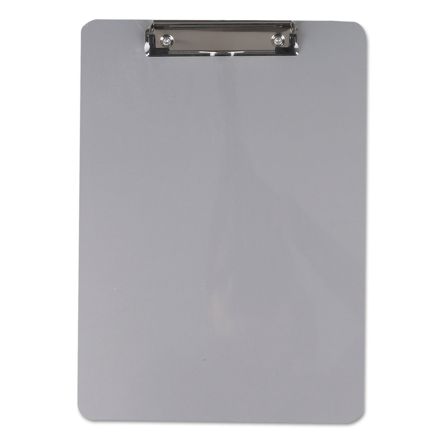 """Aluminum Clipboard with Low Profile Clip, 1/2"""" Capacity, 8 x 11 1/2 Sheets"""