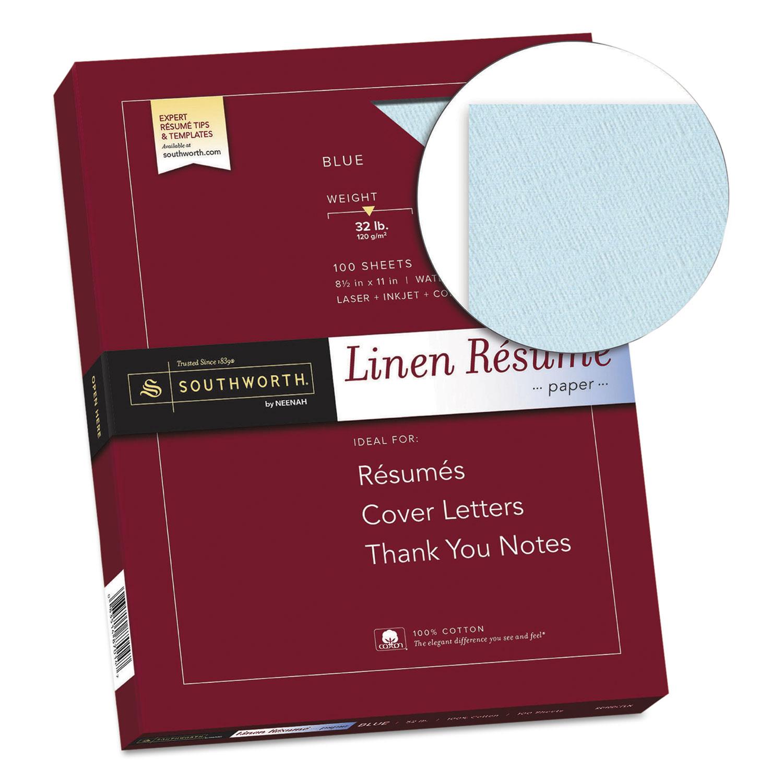 100 Cotton Linen Resume Paper By Southworth 174 Sourd18bcfln