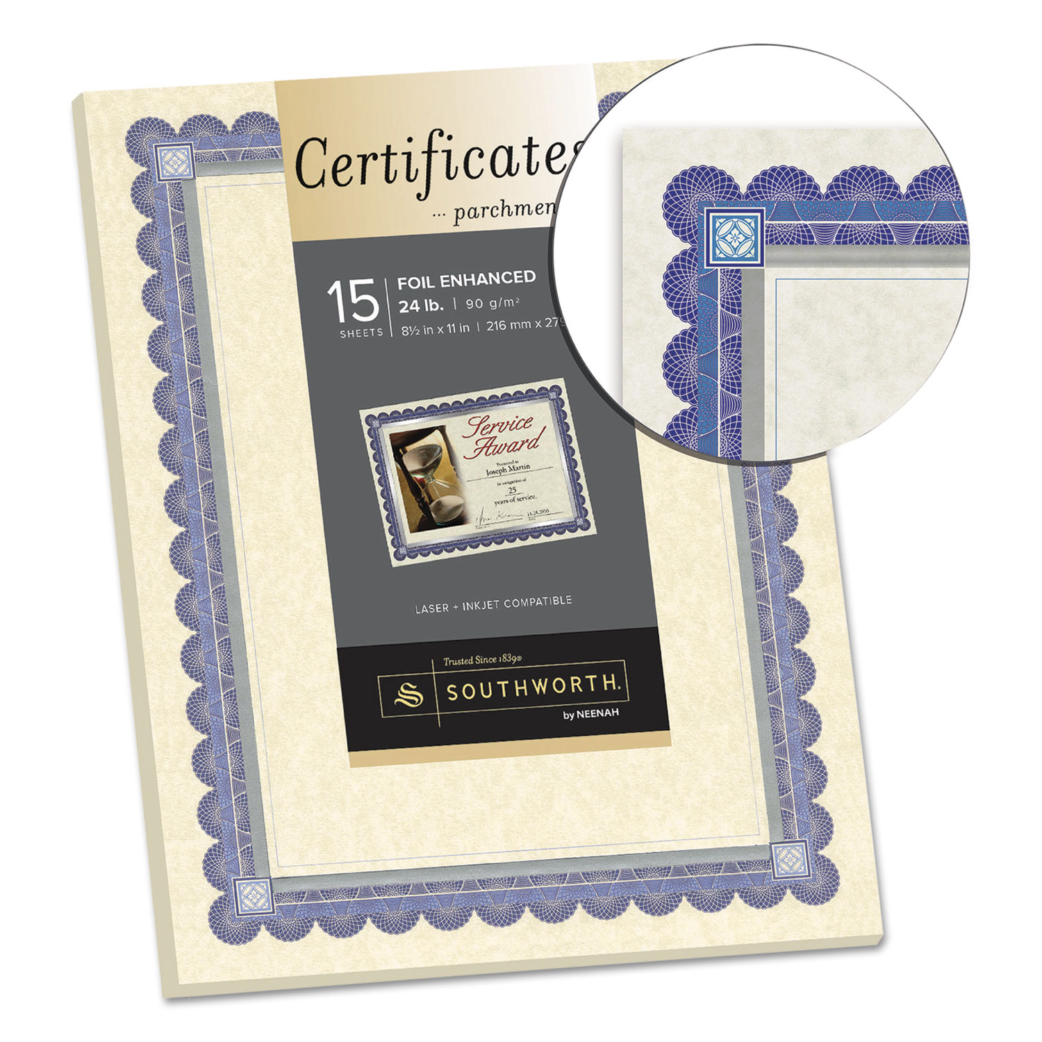 Foil-Enhanced Parchment Certificate by Southworth® SOUCT1R ...