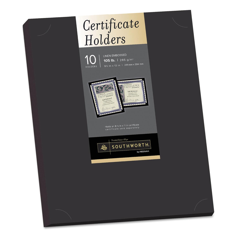certificate holder holders linen southworth pack cardstock 105lb office frames pf18 sheets certificates cert embossed lb hold