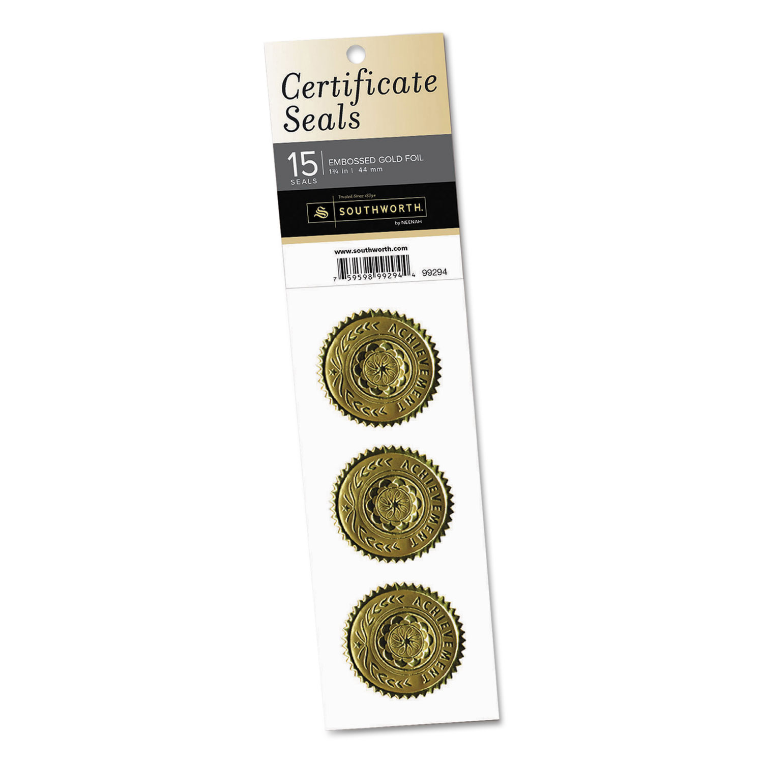 Gold Certificate Seals By Southworth® SOU99294