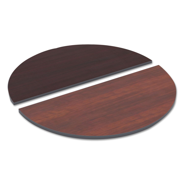 Reversible Laminate Table Top Half Round 48w X 24d Medium Cherry Mahogany Office Product Center