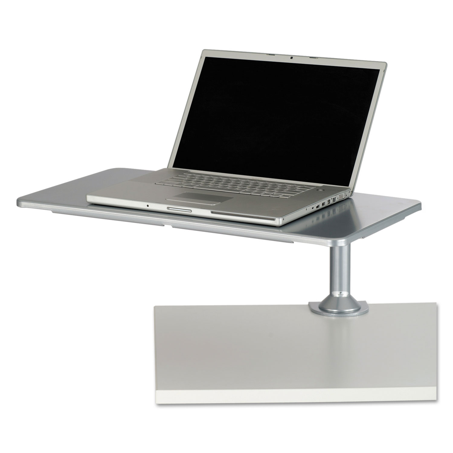 Desktop Sit/Stand Workstations, Laptop, Silver