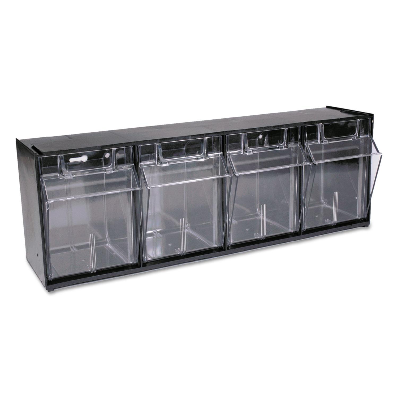 Def20404op Deflecto 174 Tilt Bin Plastic Storage System W 4