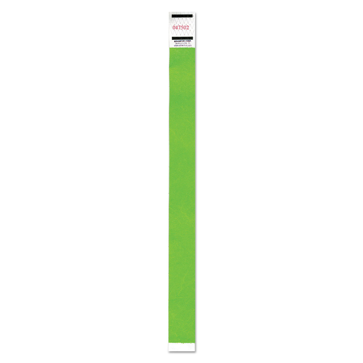 Crowd Management Wristband, Sequential Numbers, 9 3/4 x 3/4, Neon Green, 500/PK