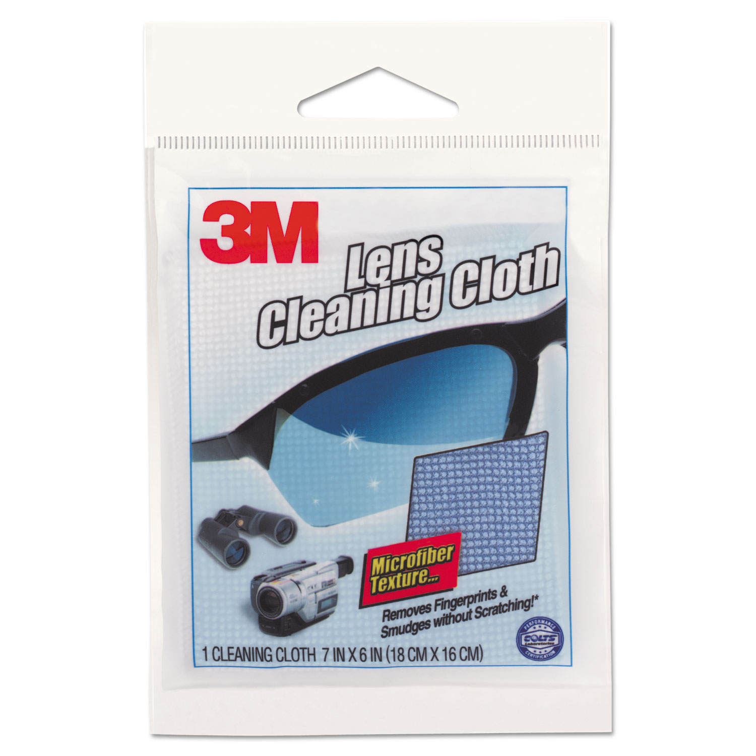 Lens Cleaning Cloth, 7 1/10 x 6 3/8, Blue