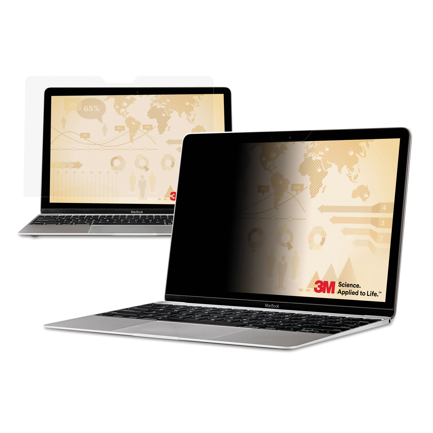 3M™ Frameless Blackout Privacy Filter for 13.3 Widescreen Laptop, 16:10 Aspect Ratio