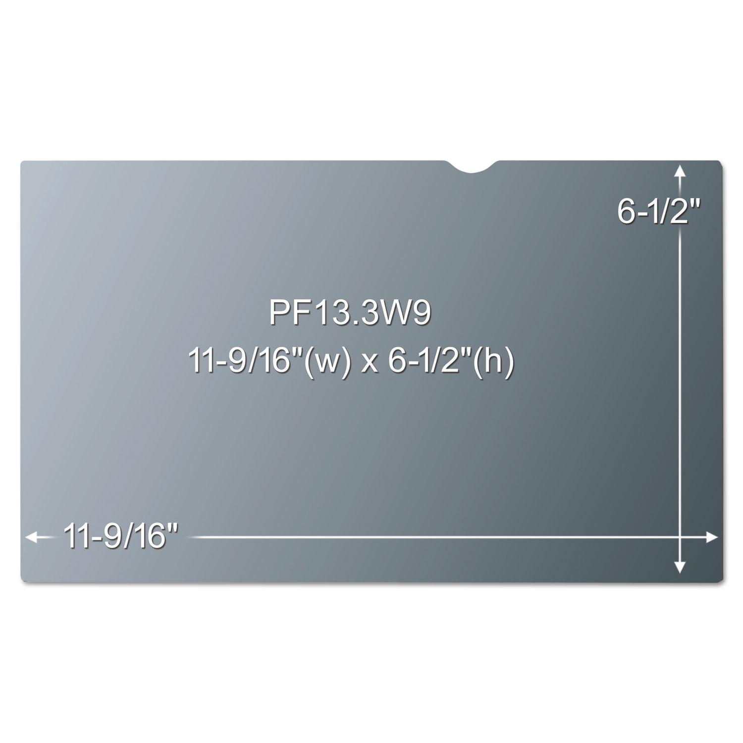 """3M Blackout Frameless Privacy Filter for 13.3/"""" Widescreen Notebook 16:9 PF133W9B"""