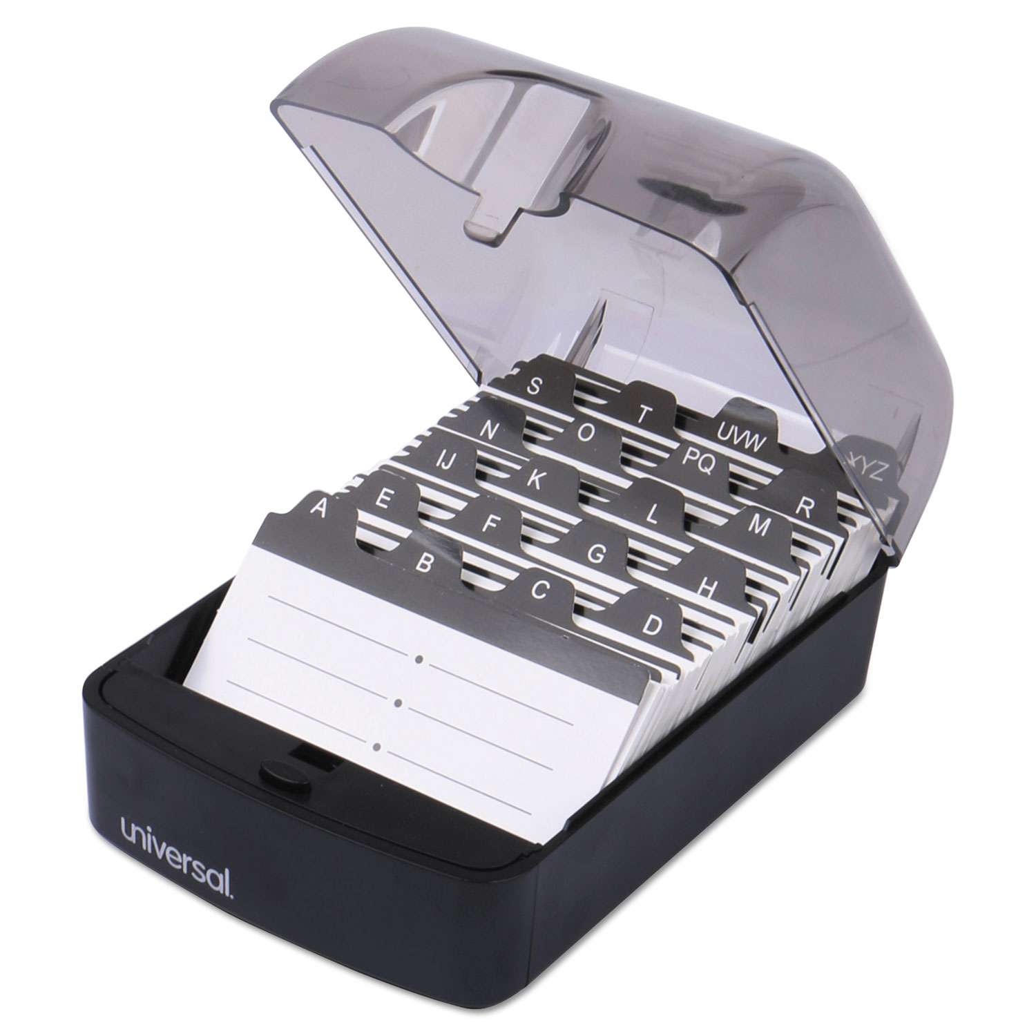 push button business card file by universal unv