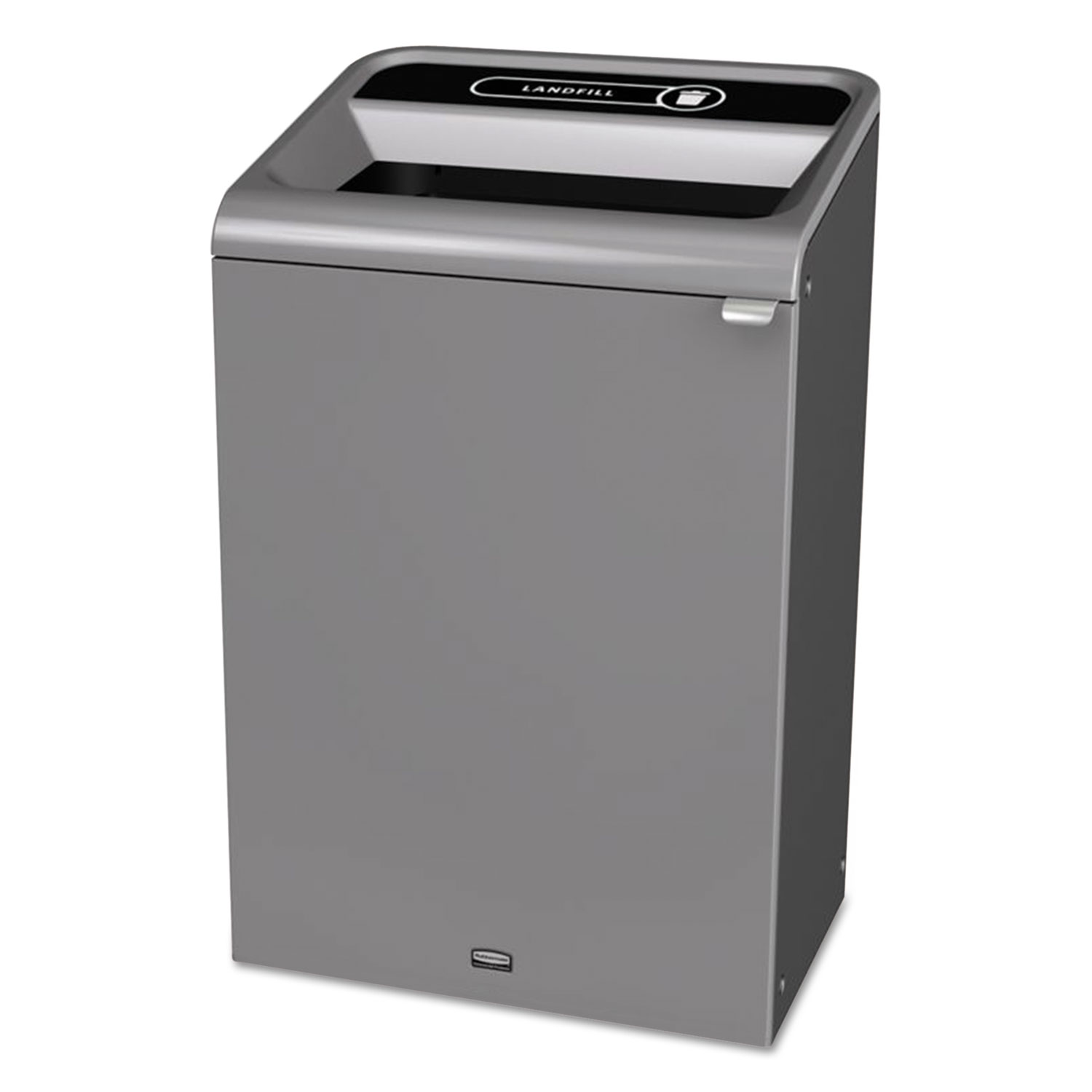 Configure Indoor Recycling Waste Receptacle, 33 gal, Gray, Landfill