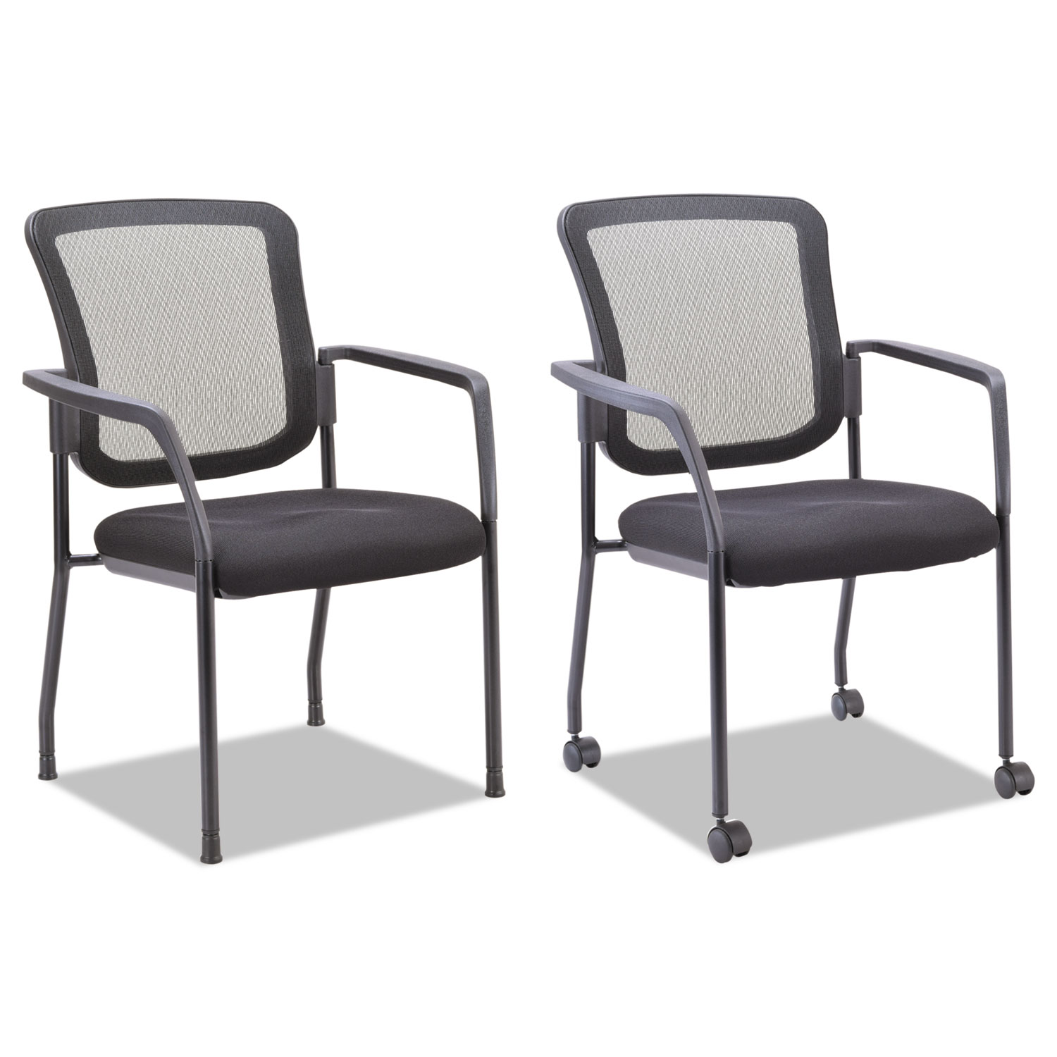 Mesh Guest Stacking Chair by Alera ALEEL4314 TimeSupplies