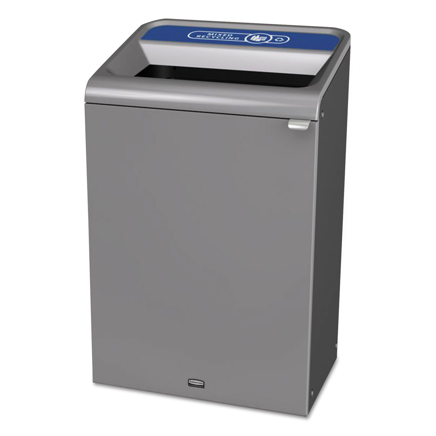 Configure Indoor Recycling Waste Receptacle, 33 gal, Gray, Mixed Recycling