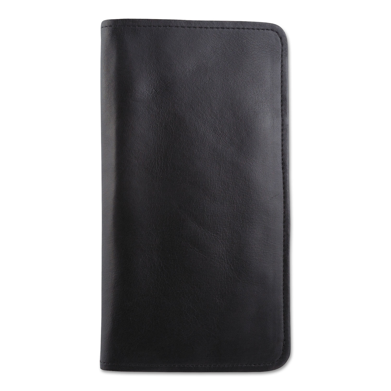 Passport/Document Holder, Black, Leather, 4 3/4 x 9