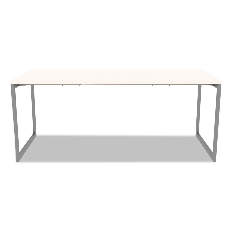 Alera Open Office Desk Series Adjule O Leg Base 30 Deep Silver