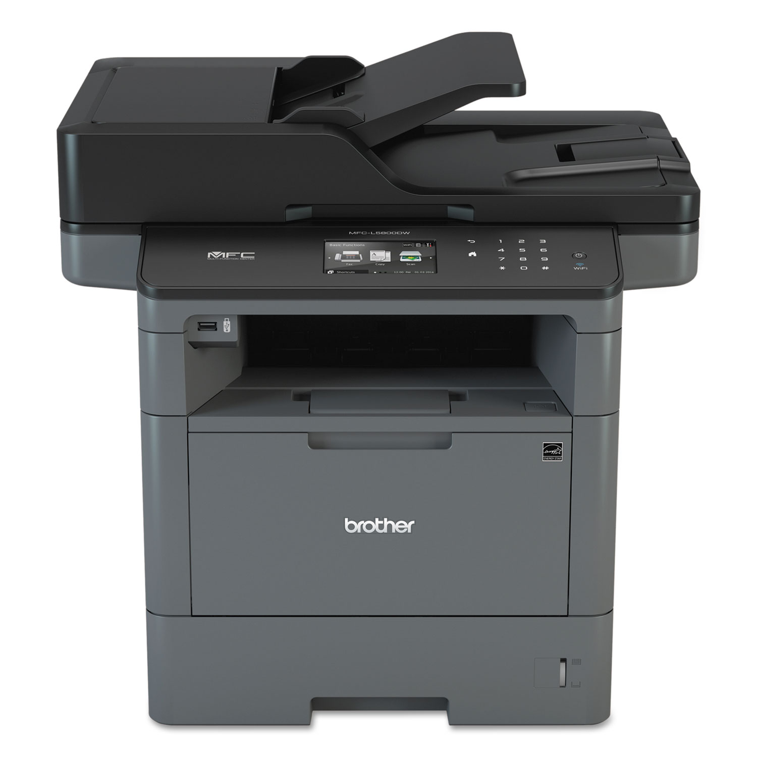 MFC-L5800DW Wireless Monochrome All-in-One Laser Printer, Copy/Fax/Print/Scan