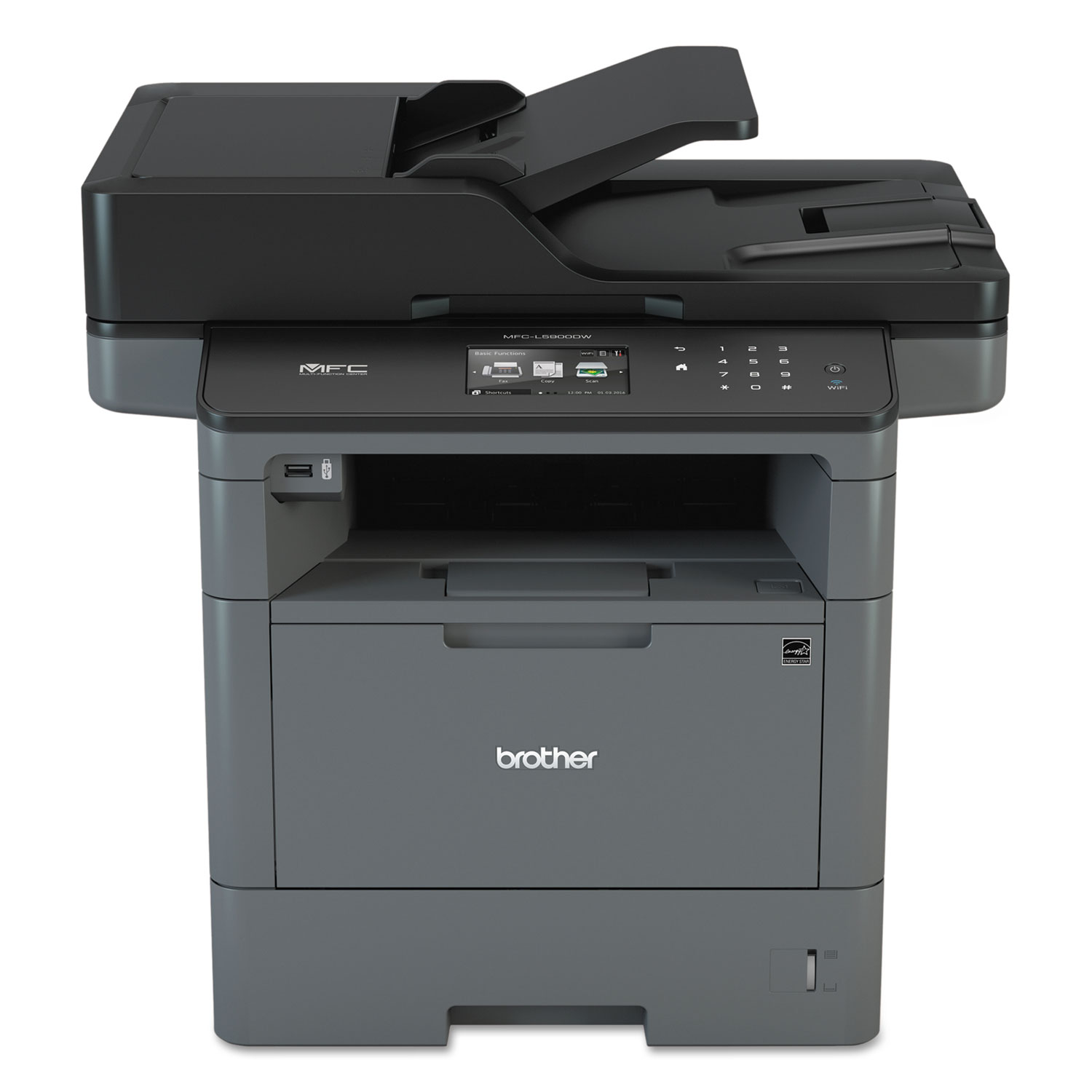 MFC-L5900DW Wireless Monochrome All-in-One Laser Printer, Copy/Fax/Print/Scan