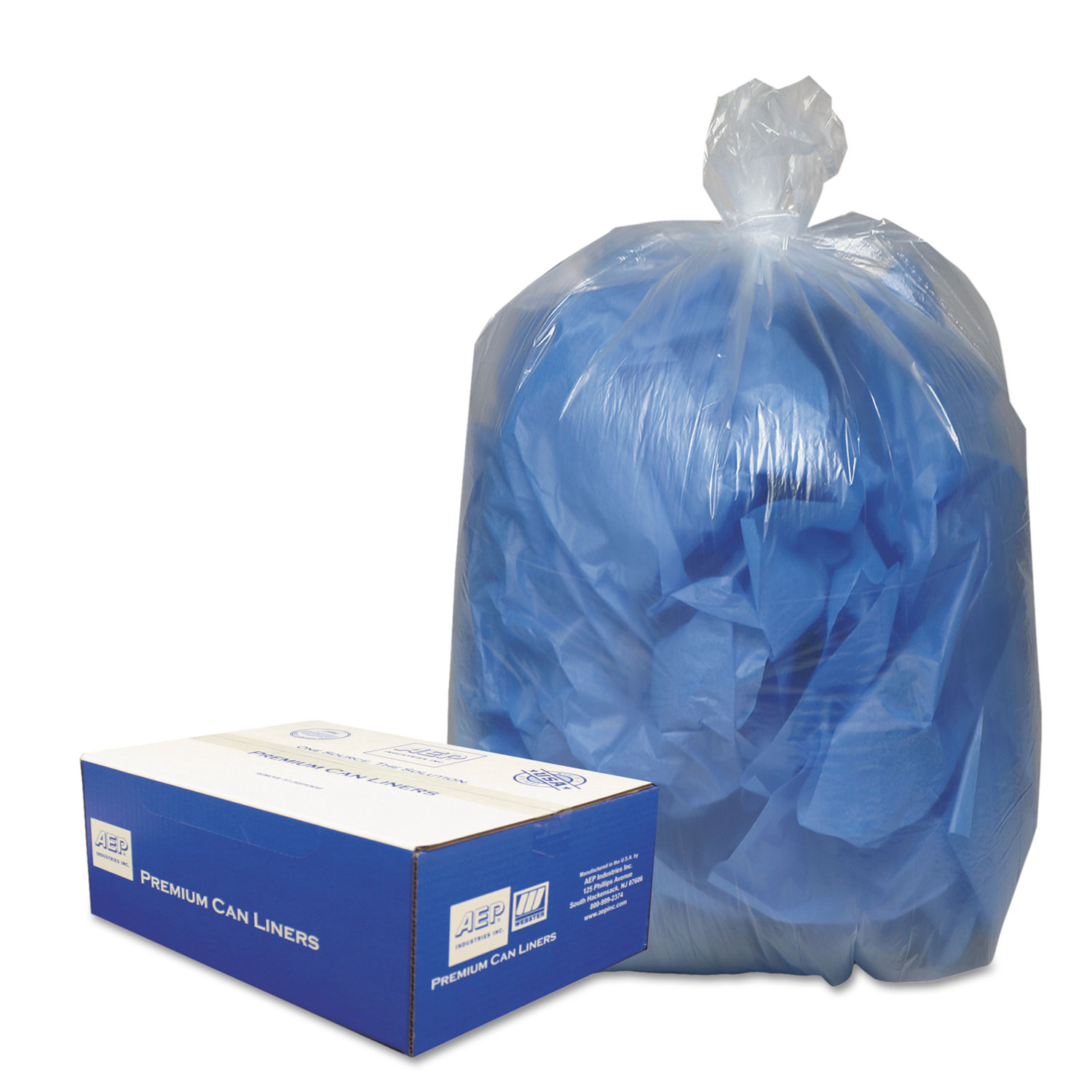 "Linear Low-Density Can Liners, 10 gal, 0.6 mil, 24"" x 23"", Clear, 500/Carton"