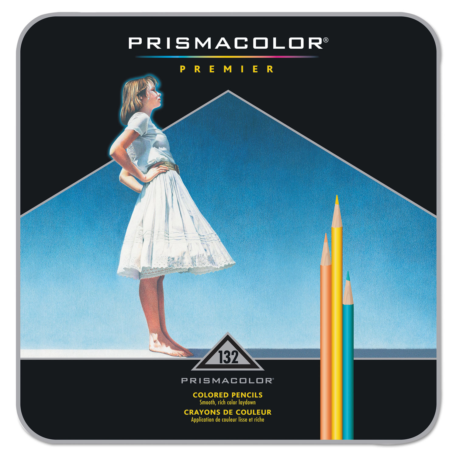 Premier Colored Pencil, 0.7 mm, 2B (#1), Assorted Lead/Barrel Colors, 132/Pack