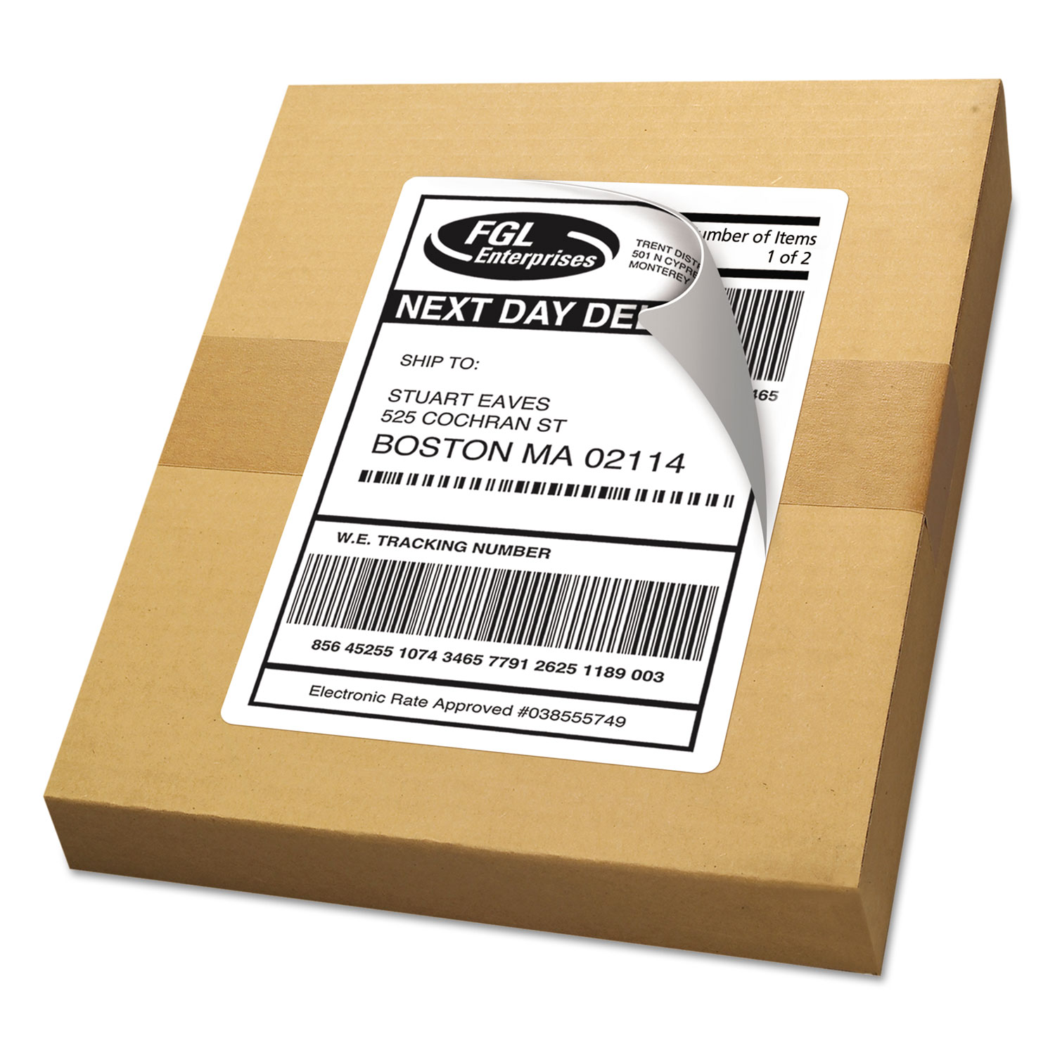 shipping labels with trueblock technology by avery
