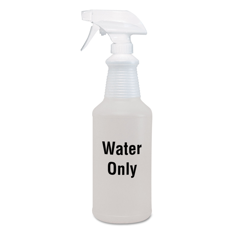 6e6038b60814 Water Only Spray Bottle, Clear, 32 oz, 12/Carton