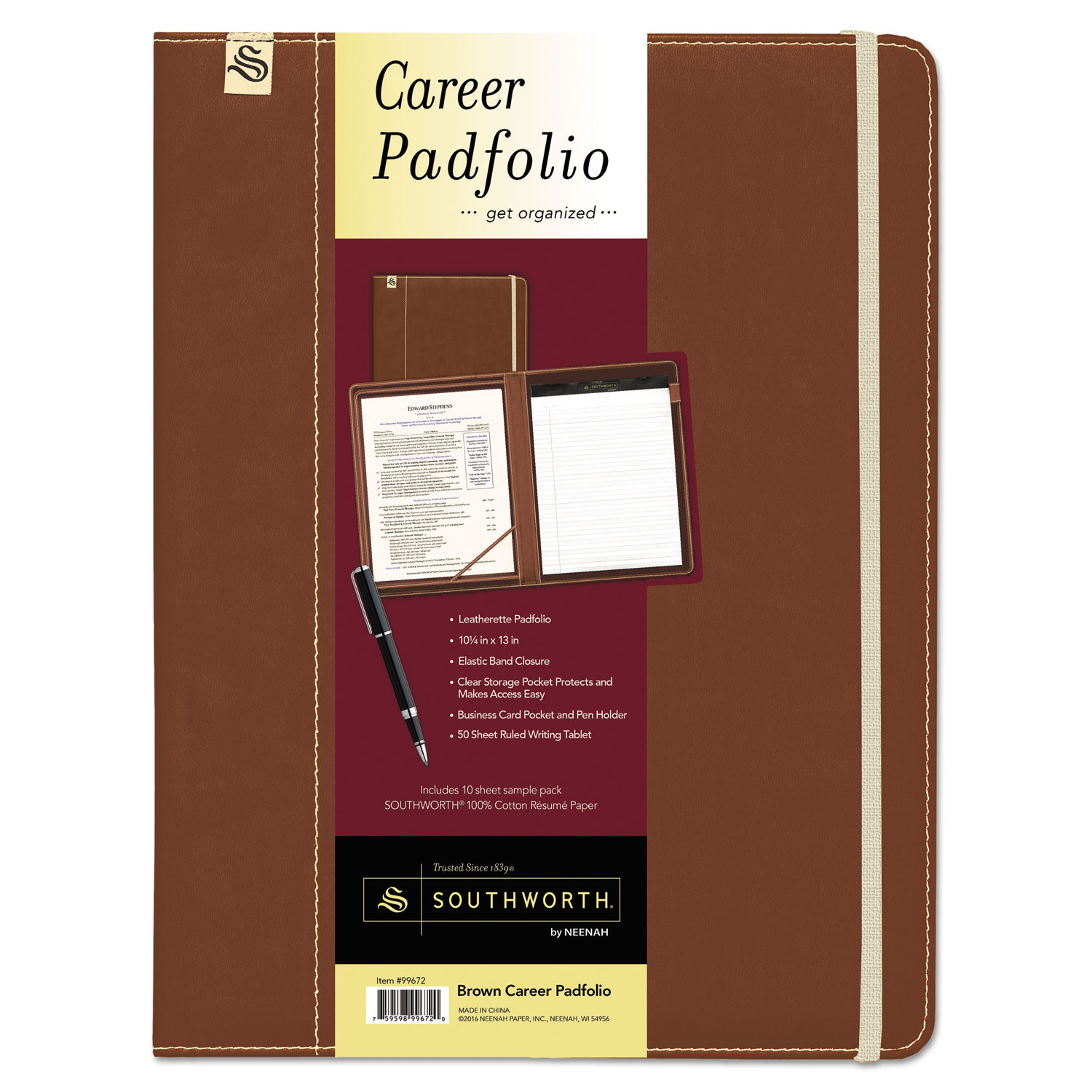 Career Pad Folio By Southworth Sou99671 Ontimesupplies Com